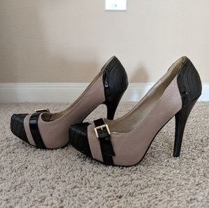 JustFab Shoes - JustFab Quilted Buckle Pump